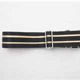 Vintage Yen Black and Yellow Strap - Aurelius Leather