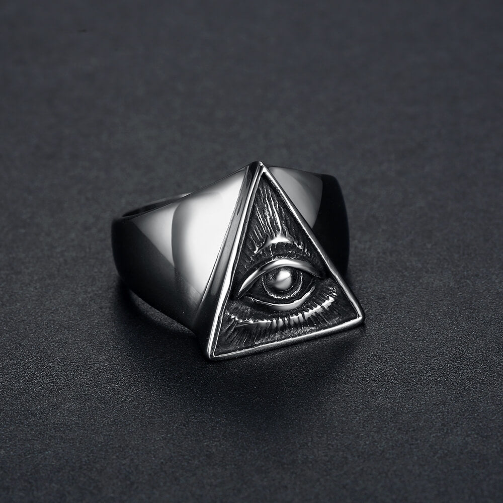 U - Eye of Ra Ring Silver - Aurelius Leather