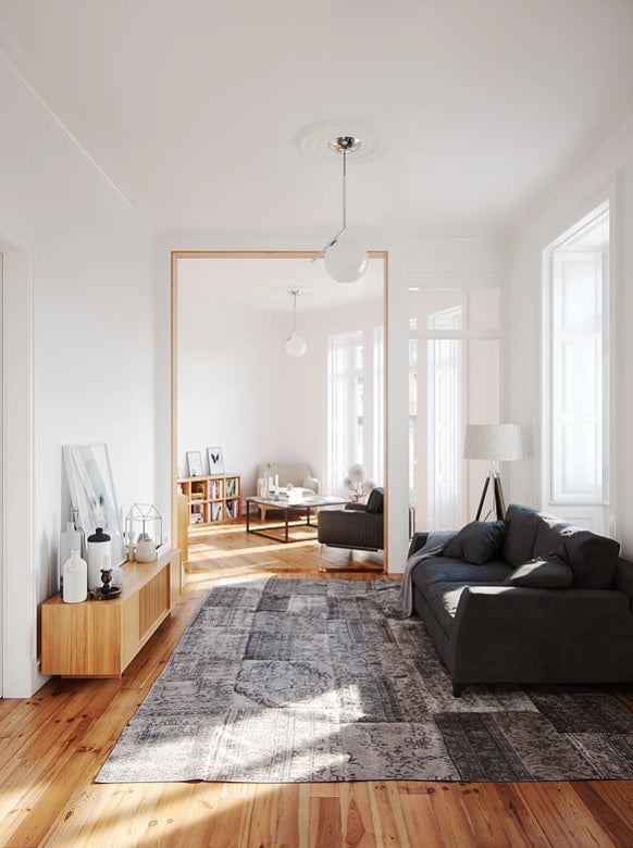 Scandinavian minimalist living room