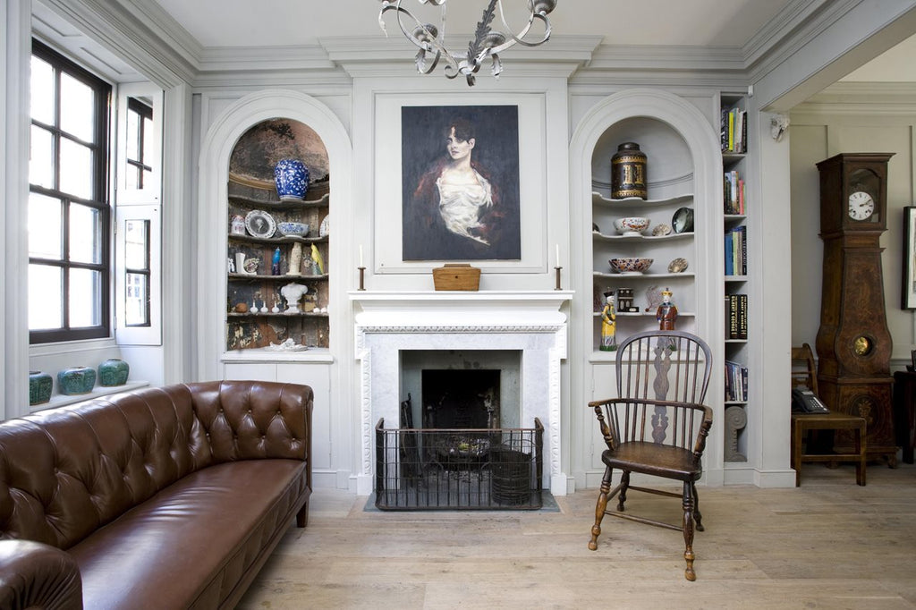 Revived English- Georgian Era Living Room