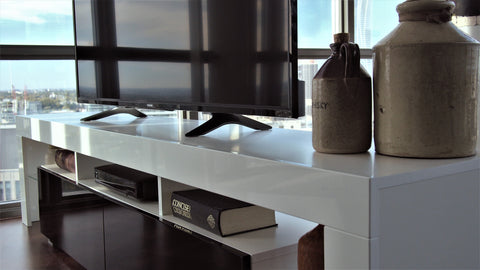 Black and White TV Stand - Copenhagen Contemporary TV Stand