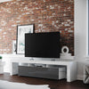 Copenhagen TV Stand - White/Grey for TVs up to 70""