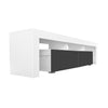 COPENHAGEN TV Stand - White/Grey for TVs up to 80""