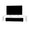Copenhagen TV Stand - White/Black for TVs up to 70""