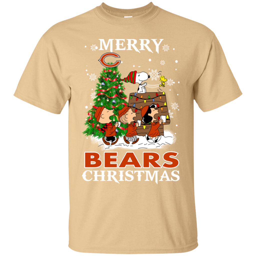 Merry Chicago Bears Christmas Snoopy Ugly Sweater Style Shirts