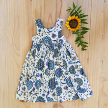Blue mandala print racer dress