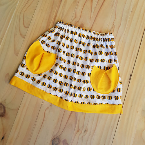 Yellow Honey Bee skirt