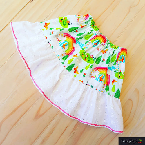 Rainbow unicorn skirt