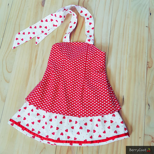Queen of hearts princess rocker dress