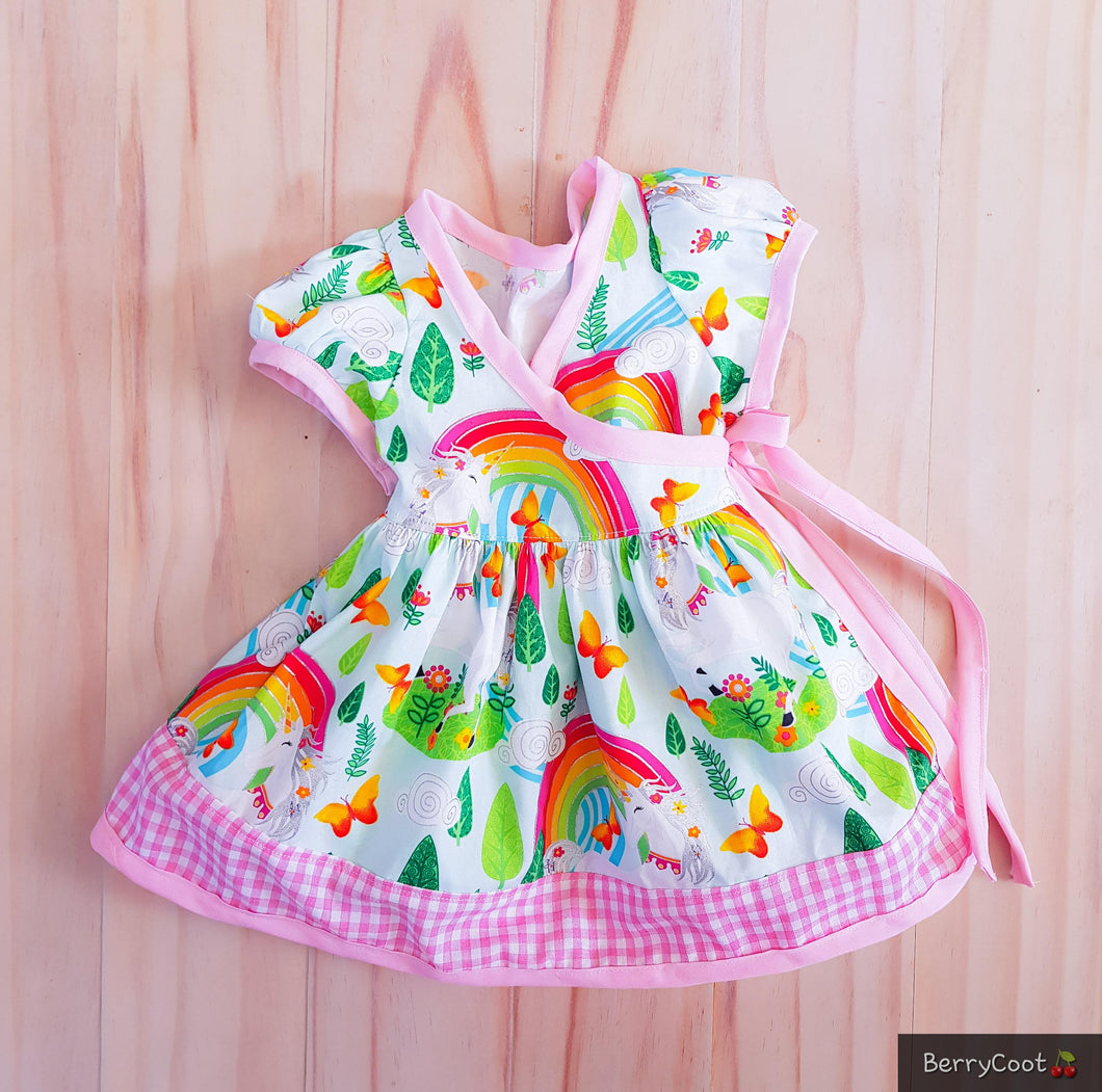 Unicorn candy wrap dress