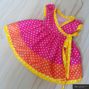 Sunset stars wrap dress