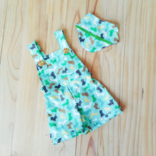 Mint origami dogs overalls