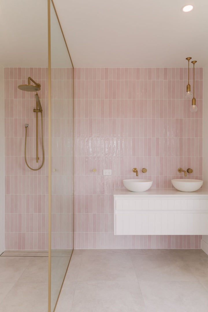 Pink, White and Gold Ensuite