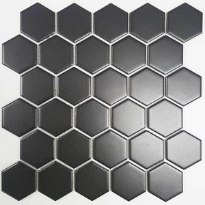 Black Satin hex 50mm