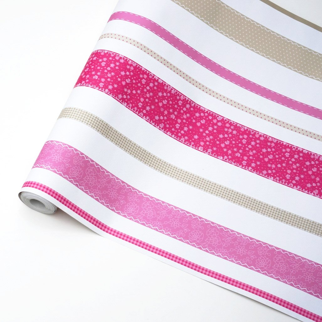 Pink stitched stripes