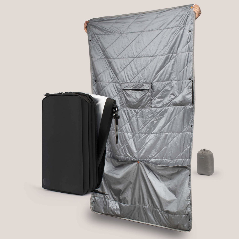 Explorer PLUS™ Toiletry Bag & Gray Layover Blanket