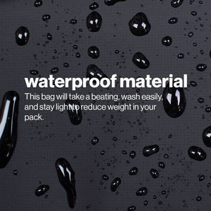 Waterproof materials make it easy to wash the bag