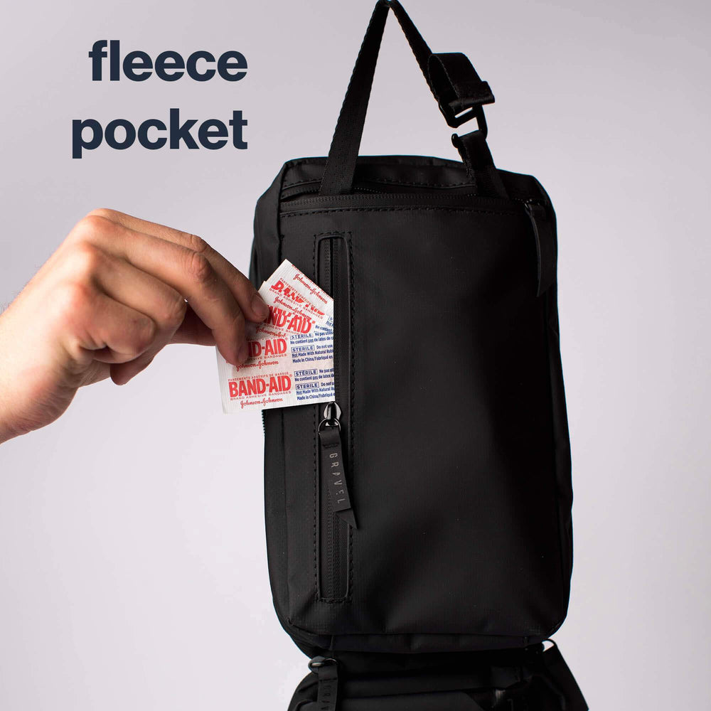 The Explorer Plus and Slim have a fleece pocket