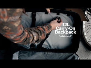 Load and play video in Gallery viewer, 42L Carry-On Backpack