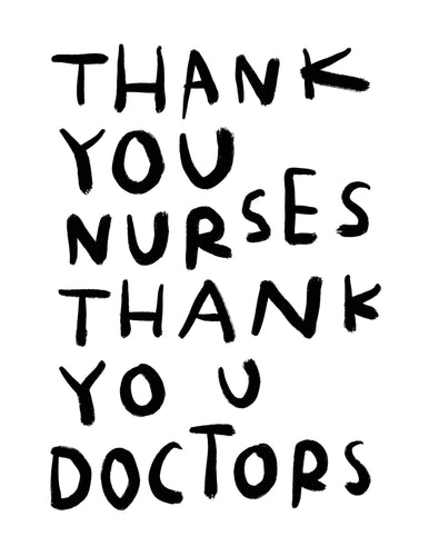 (print at home) THANK YOU NURSES THANK YOU DOCTORS