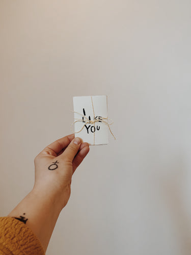 I LIKE YOU gift tag / tiny art print