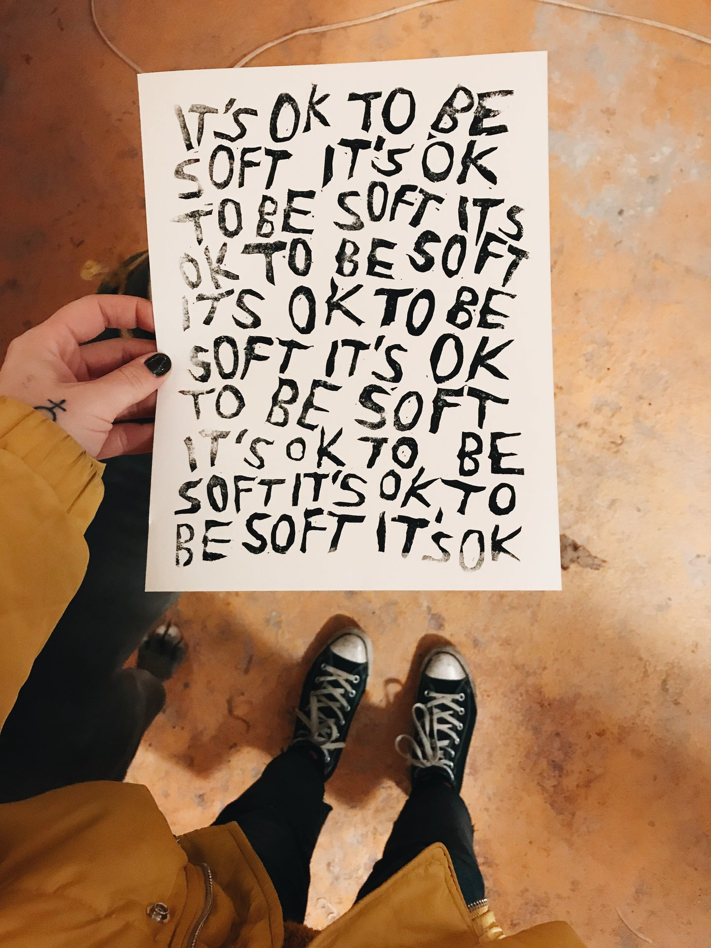 IT'S OK TO BE SOFT Print