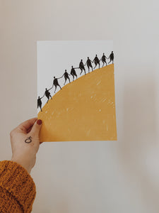 Uphill Together Print