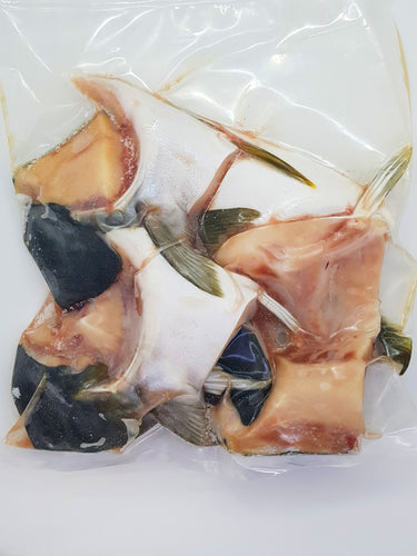 Hamachi Kama, also known as Yellowtail collar, is known to be the best part of the fish as it is fatty, tender and very juicy. The flesh is taken from just above the gills, below the head.