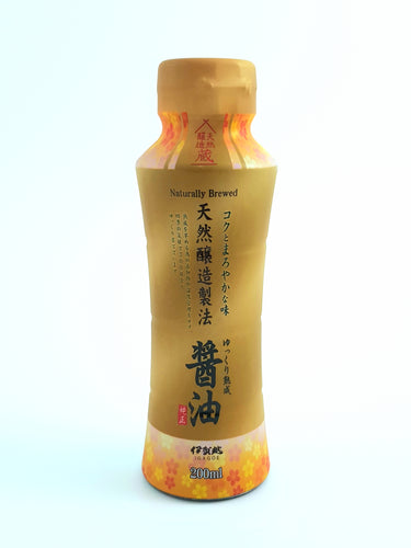 High Quality Igagoe Tenen Jyozo Shoyu (Japanese Naturally Brewed Sushi Soy Sauce) - 200ml 天然醸造しょうゆ 伊賀越