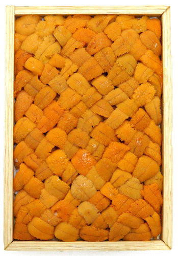 Yellow Bara Bafun uni consists of high quality Yellow uni that have been meticulously place together in Hokkaido to form the