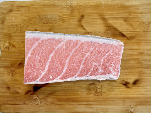 Sashimi Grade Tuna Ootoro block, Fatty Belly Tuna - Frozen (400-500g) マグロ大トロ 冷凍