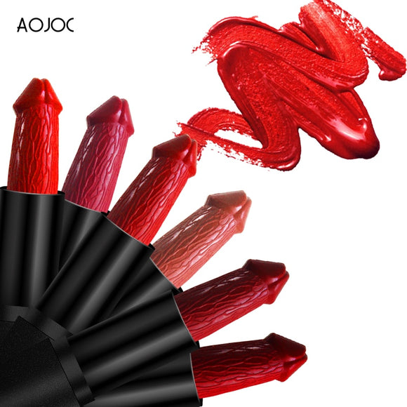 20 Colors Penis Shape Lips Makeup Lipstick Mushroom Long Lasting Moisture Cosmetic Lipstick red Lip matte lipstick waterproof