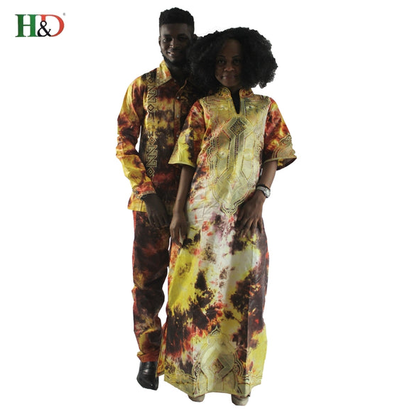 African clothes traditional dresses for couples for men and women costume bazin riche embroidery design Dashiki robe