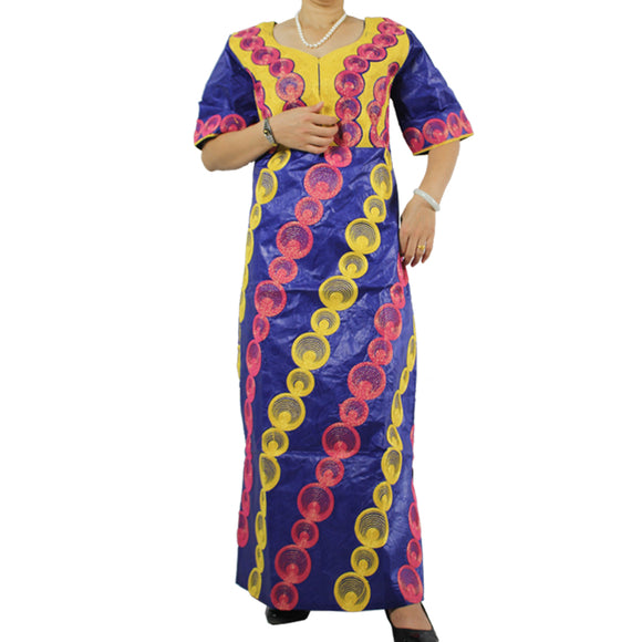 African Riche Bazin Dress For Women African Dashiki Traditional Embroidered Clothing  100% Bazin Cotton
