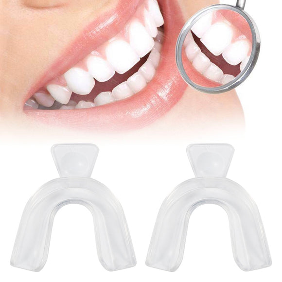 High Quality 2pcs Transparent Night Guard Gum Shield Mouth Trays For Bleaching Teeth Grinding Dental Teeth Dental Equipment
