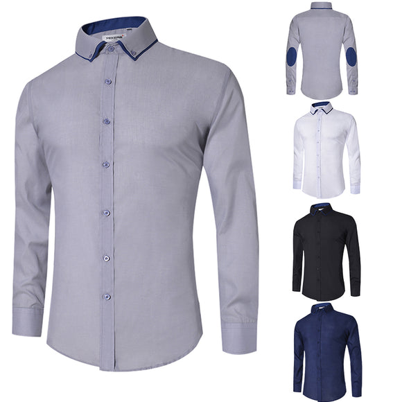 New Design  Casual Shirt Men Long Sleeve Slim Fit Men's Casual Button-Down Shirt Formal Dress Shirts Male Clothing Camisa