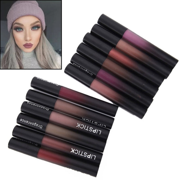 Professional Makeup Velvet Nude Lip gloss Waterproof Liquid Matte Lipstick Long lasting Black Lipstick Set Korean Cosmetics