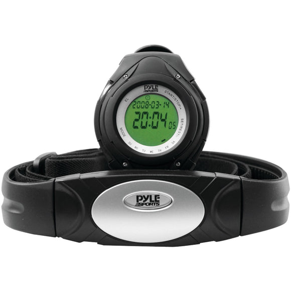 Pyle Pro Heart Rate Monitor Watch With Minimum Average And Maximum Heart Rate (black)