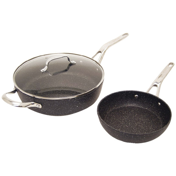 The Rock By Starrit The Rock By Starfrit 3-piece Cookware Set With Riveted Cast Stainless Steel Handles
