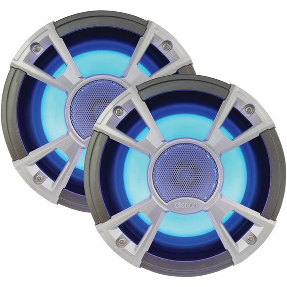 "Clarion Cmq Series 6.5"" 200-watt Marine Coaxial Speakers With Built-in Blue Led Illumination"