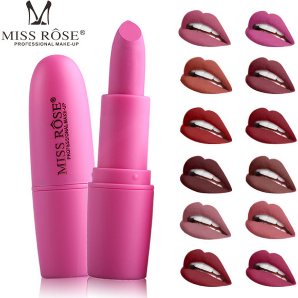 Miss Rose Beauty Matte Moisturizing Lipstick 22 Colors Makeup Lipsticks Lip Stick Waterproof Lipgloss Mate Lipsticks Cosmetic