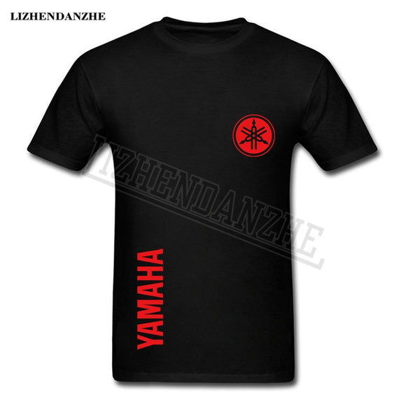 Yamaha logo T-shirt Men's T shirt motorcycle player tshirt top quality 100% cotton short-sleeved clothing TEES free shipping