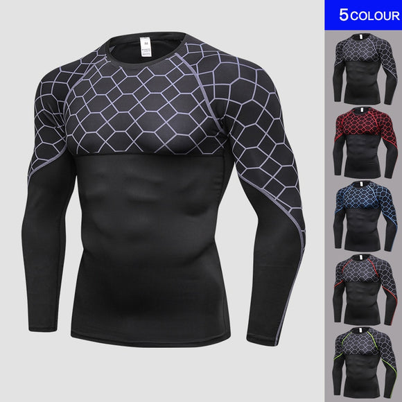 Yel Quick Dry Running T Shirt Men Fitness Tight Sport Shirt Men Gym Clothing Bodybuilding Rashgard Men'S T Shirt For Sporting