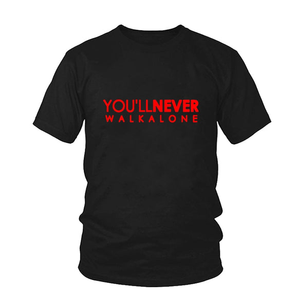 You'll Never Walk Alone T-shirt Liverpool For Fans All Champions  Fashion Men's Brand Clothing Male O Neck Streetwear Tshirt