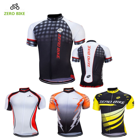 ZERO BIKE Hot Sales 100% Polyester Breathable Men's Cycling Jersey 2017 Summer Mountain bike cycling clothing ropa ciclismo
