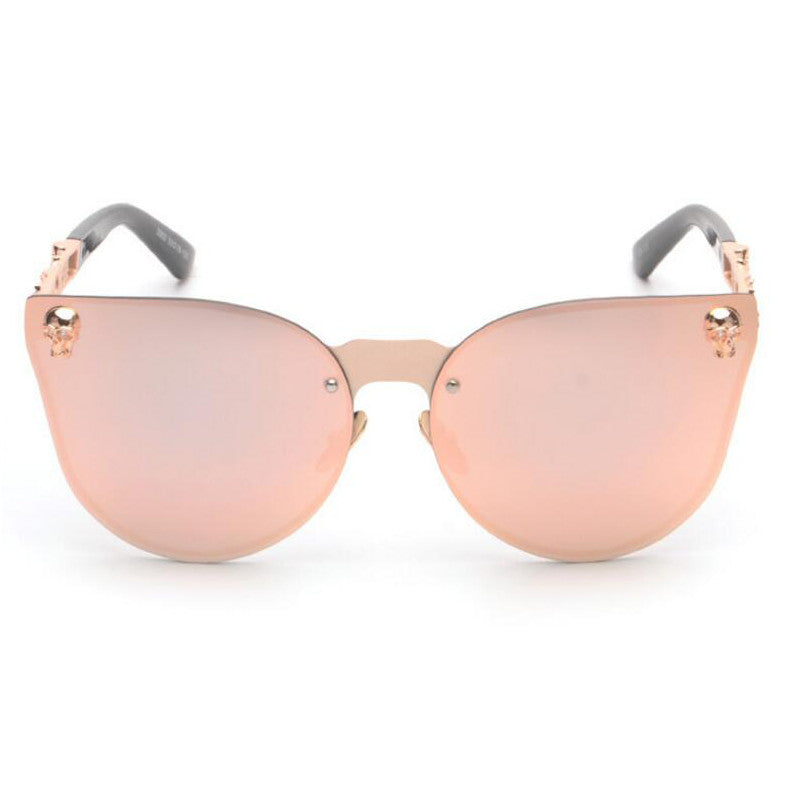 ... ROYAL GIRL Women Cat Eye Sunglasses Metal Frame Star carving Flower  Sunglasses Mirror Glasses oculos de ... c088738494