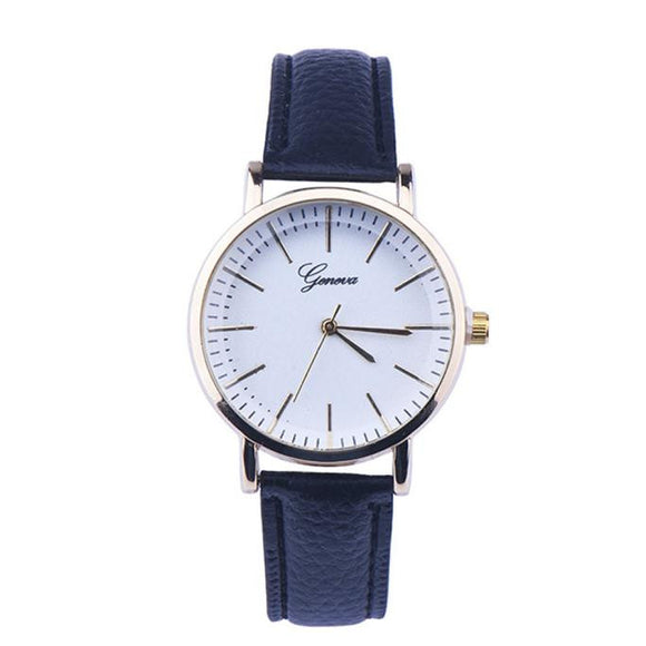 Women Leather Analog Quartz Wrist Watch