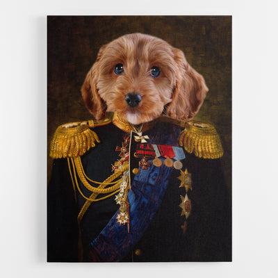 Dog Admiral Canvas