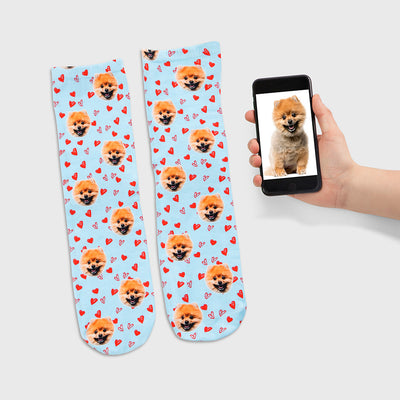 Your Dog Love Heart Socks
