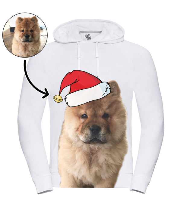 Dog Face Mens Christmas Hoodie